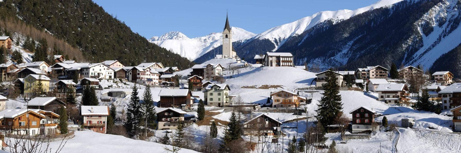 Picture of the village of Davos in Switzerland